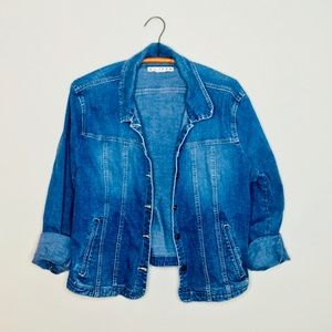 Vintage Retro 90's Denim Jean Oversized Jacket
